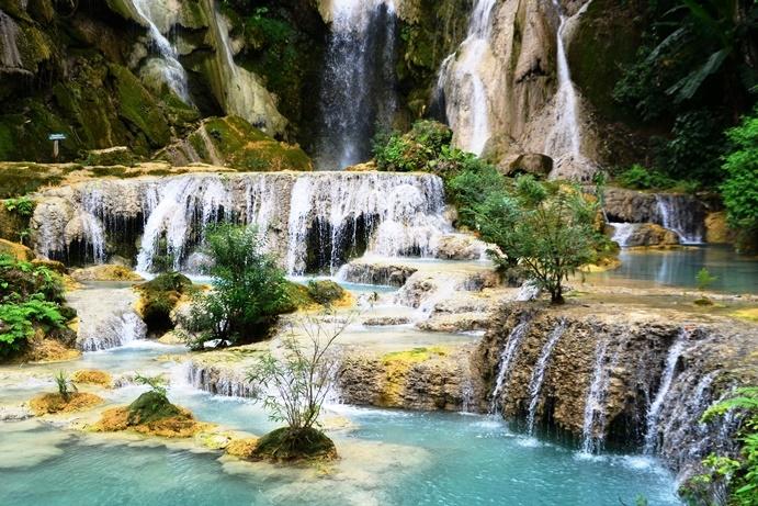 Leisure holidays - Waterfalls in Luang Prabang